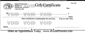 Extra Pressure Pressure Washing Gift Certificate
